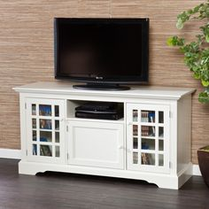 Harper Blvd Trevorton White TV Stand | Overstock.com Shopping - The Best Deals on Entertainment Centers