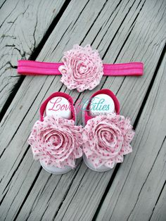 Baby Headband and Barefoot Sandals by LovelyLiliesBoutique, $10.00
