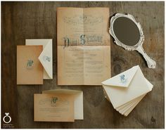 Vintage Opera wedding invitations for Paulina & Artur / Design by Calym Sercem