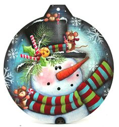 Laurie Speltz - The Creative Coach - Believe Me. Create With Paint Christmas Wood Crafts, Christmas Rock, Painted Christmas Ornaments, Hand Painted Ornaments, Snowman Crafts, Ornament Crafts, Christmas Images, Christmas Snowman, Christmas Projects