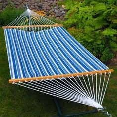 Sling Hammock  BlueBlue Stripe 11ft *** Click the image to visit the Amazon website