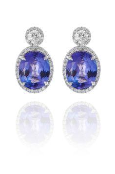 Diamond Jewellery, Diamond Earrings, Fine Bridal Jewelry, Weekly Rentals, Swarovski, Blue Gemstones, Retail Price, Diamonds, White Gold