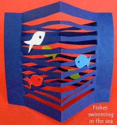 Art activity that could be done with One Fish, Two Fish, Red Fish, Blue Fish for Dr. Seuss' Birthday