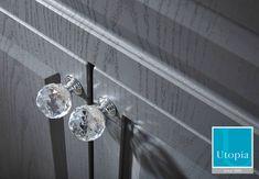 Classic crystal knob teamed with English grey Bathroom Mixer Taps, Bathroom Vanity Units, Bathroom Basin, Bathroom Storage, Fitted Bathroom Furniture, Bathroom Suppliers, Shower Units, Ceramic Floor Tiles, Crystal Knobs