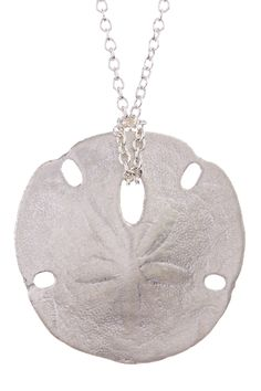 Sand dollar necklace silver sand dollar pendant necklace sand dollar sterling silver small sand dollar pendant necklace aloadofball Images