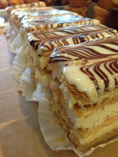 Napoleon. Dessert options from The Crema Cafe in Seal Beach!