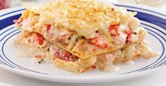 Royal Seafood Lasagna - Recipes - Food and nutrition - Pratico Practice Moussaka, Orzo, Pasta, Seafood Lasagna Recipes, Fruit Nutrition, Tapas, How To Cook Fish, Cooking Recipes, Healthy Recipes