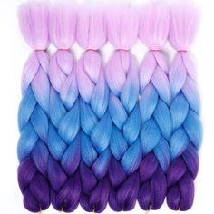 """Cheap ombre two tone, Buy Quality ombre hair kanekalon directly from China ombre color Suppliers: 24"""" Kanekalon braiding hair ombre two tone colored jumbo braids hair synthetic hair for dolls crochet hair 100g/pack JINKAILI"""