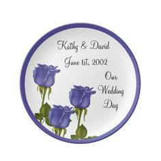 Indigo Roses Wedding Porcelain Plate  http://www.zazzle.com/indigo_roses_wedding-256940827408539651?rf=238631258595245556