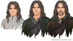 Estel, Thorongil, and Strider.