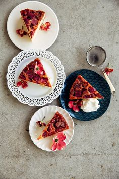 Hummingbird High - A Desserts and Baking Food Blog in Portland, Oregon: Rhubarb and Marzipan Upside Down Cake (And Some News)