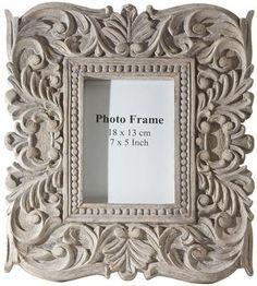Sachi Carved Wood Photo Frame - Picture Frames - Wall Decor - Home Decor | HomeDecorators.com