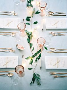 Uber-Delicate Greenery Garland - Wedding Tablescape