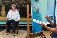 Christian Hook painting Ian McKellen