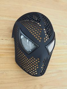 nyone Can Be Spider-Man with This Incredible Printed Spidey Mask See how you could get a very nice electronic accessories for your gadgets. 3d Printing News, 3d Printing Technology, 3d Printing Service, Mask Design, 3d Design, Print Design, Diy 3d, 3d Printed Objects, Cool Masks
