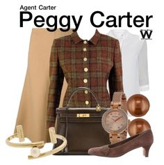 """Agent Carter"" by wearwhatyouwatch ❤ liked on Polyvore featuring Belk & Co., Theory, Elie Tahari, Pierre Cardin, Hermès, Bulova, Salvatore Ferragamo, Jason Wu, women's clothing and women's fashion"
