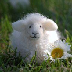 Sheep Needle Felting kit (without felting cushion and needles). $22.00, via Etsy.