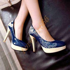 Damen Stiletto High Pumps Platform classical Runder Zeh Fashion Schuhe Gr.28-52