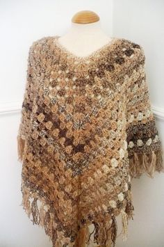 I want to learn how to crochet ponchos