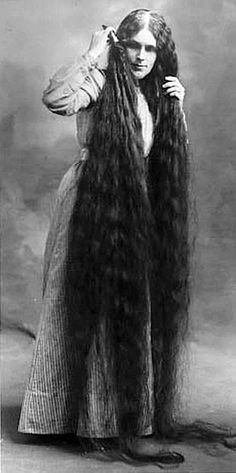 Victorian woman with long hair