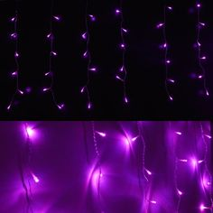 144 LED Pink Icicle Fairy String Lights Christmas Party Xmas Wedding Curtain Light, with Tail Plug, Used for Home, Garden, Cafes, Hotels, Shops, Department Stores, Street, House Eaves House Eaves, Merry Christmas, Xmas, Christmas String Lights, Curtain Lights, Street House, Department Store, Are You Happy, Halloween Decorations
