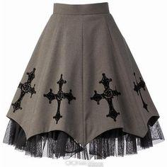 Moi-même-Moitié Rose and Cross Print Skirt