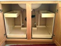 Image result for grbage can bottom cabinet