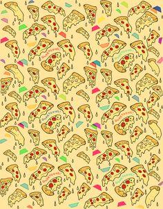 Food Pattern Wallpaper Tumblr | Pizza Wallpaper Tumblr Pizza and trapezoids!