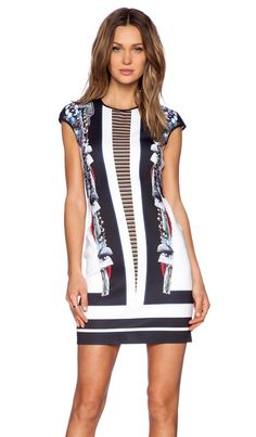 Clover Canyon Ancient Parallels Midi Dress in Multi