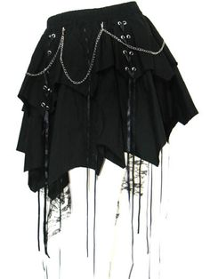 Black Revival Gothic Lolita Punk skirt