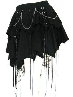 Black Revival Gothic Lolita Punk skirt
