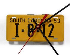 licence plate clock
