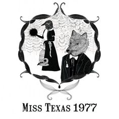 Miss Texas 1977 art print by Lauren Fowler Miss Texas, Art Prints, Illustrations, Image, Pretty, Shirt, Design, Art Impressions, Dress Shirt