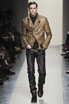another great example of brown leather jacket
