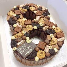 Choco Cookie Number Birthday Cake