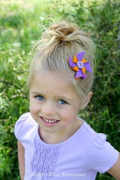 Wool Felt Pinwheel Hair Clip  Birthday by Sweetlittleblossoms, $4.50