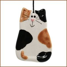 Ceramic CALICO CAT Ornament - August Ceramics