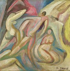 Bathers, 1917. Hugo Robus