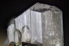 Pectolite. Poudrette Quarry, Mont Saint-Hilaire, Quebec, Canada. FOV=4 mm Photo Douglas Merson