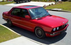1987 BMW 535is E28 Euro Red  M5