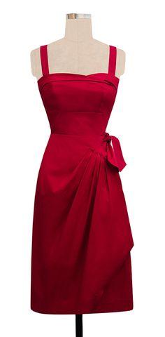 Trashy Diva Trixie Sarong Dress | 1950s Inspired Dress | Red Poplin | Trashy Diva
