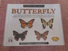 Eyewitness Kits Butterfly Casting Kit Age 6+ Made In The USA Homeschool Learning #skullduggery