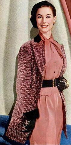 Nancy Berg in a Forstmann ad, 1954 jαɢlαdy