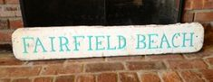Beach sign. More turquoise :). Fairfield, CT