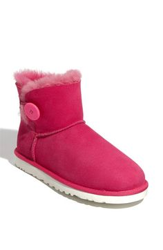 New Ugg Australia Mini Bailey Button Boot. These come in 12 different colors. Pin leads you back to Nordstroms with the boots!