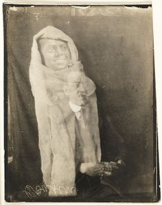 Man with the spirit of his helper, c. 1920, William Hope, National Media Museum Collection | Spirit Photography