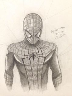 how to draw spider man full body