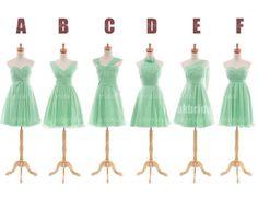 Mint green bridesmaid dresses cheap bridesmaid dress by okbridal, $99.99