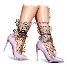 How adorable are these net socks! Great for winter I reckon Find them at margel. Fashion Design Sketchbook, Fashion Sketches, Stilettos, Stiletto Heels, Fashion Illustration Shoes, Shoe Sketches, Fashion Artwork, Drawing Clothes, Shoe Art