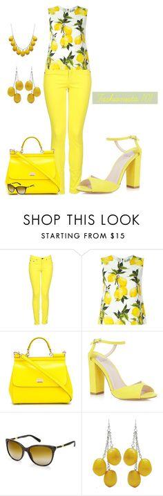 Lemons and More Lemons by amdavis1218 on Polyvore featuring Dolce&Gabbana, rag & bone and Lenny